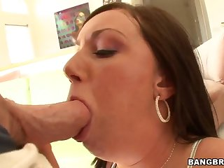 Comely deadly MILF Valerie Luxe giving very hot blowjob