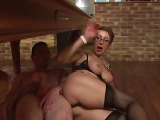 Fine-looking mature lady is drilled in asshole