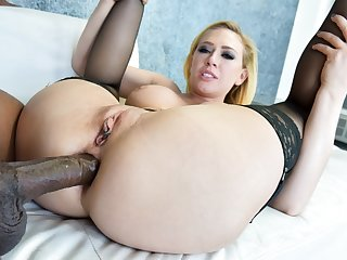 Big tit squirts after a long time aggravation fucked by a BBC